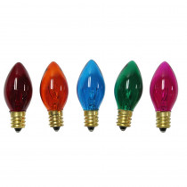 Home Accents Holiday C7 Multi-Color Replacement Light Bulbs (8--pack)