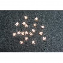 Home Accents Holiday 6 ft. Lighted Length with 18-Lights LED Warm White Snowflake Ultra-Wire Light (14-Pack)