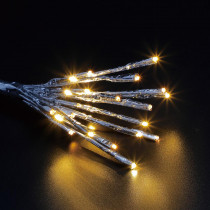 Home Accents Holiday 24-Light Warm White Star Burst LED Light with Silver Wrap