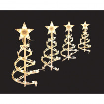 Home Accents Holiday 18 in. Clear Spiral Tree Pathway Lights (Set of 4)