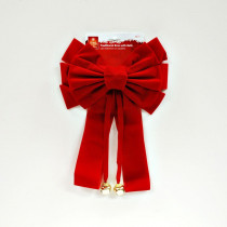 Home Accents Holiday Traditional Red Velvet Bow with Bell