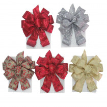 Home Accents Holiday Tree Topper Bow- 6 Assorted