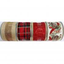 Home Accents Holiday 30 ft. Ribbon Spool Classic (4 Assorted)