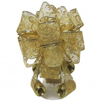 Home Accents Holiday Gold Tree Topper Bow