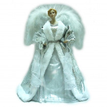 Home Accents Holiday 18 in. Silver LED Fiber Optic Angel