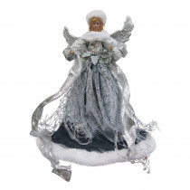 Home Accents Holiday 18 in. Silver Angel Christmas Tree Topper