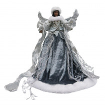 Home Accents Holiday 18 in. Ethnic Silver Angel Christmas Tree Topper