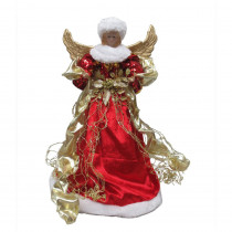 Home Accents Holiday 18 in. Red Angel Christmas Tree Topper
