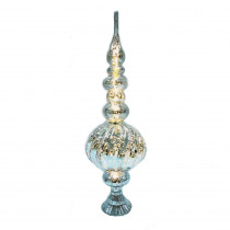 Home Accents Holiday 16 in. LED Light Treetop in Silver