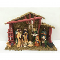 Home Accents Holiday 5.25 in. Deluxe Nativity Scene Set (12-Piece)