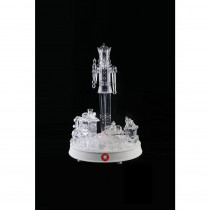 Home Accents Holiday 13 in. Crystalline Nutcracker With Turning Train and LED Illumination