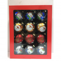 Home Accents Holiday 3.9 in. Christmas Glass Tree Trim (15-Pack)