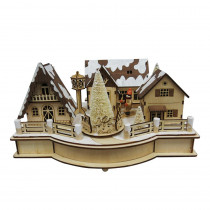 Home Accents Holiday 6.25 in. Wooden Village House