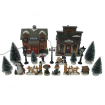 Home Accents Holiday 5.72 in H Christmas Village Set-Ski Chalet