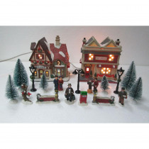Home Accents Holiday 5.98 in H Christmas Village Set – School