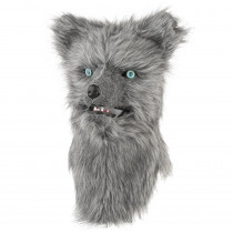 Home Accents Holiday 10.3 in. Animalistic Masks-Gray Fox