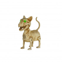 Home Accents Holiday 3 in. Boneyard Mini Cat with Animated Shaking Tail and LED Eyes