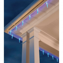 Home Accents Holiday 20L 6In. Molded Icicle Light, 72 Function with Remote Control