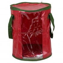 Home Basics Red Fabric Non-Woven Light Storage Organizer