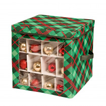 Honey-Can-Do Red and Green Ornament Storage Box (40-Ornaments)