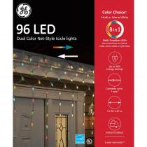 Color Choice 14 ft. 96-Light LED Multi-Color 5.5 mm Net Icicle Light Set