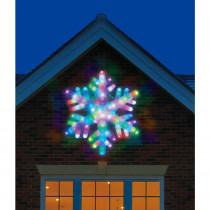 Illuminations 24 in. Color Blast Remote Controlled RGB LED 84-Light Giant Snowflake