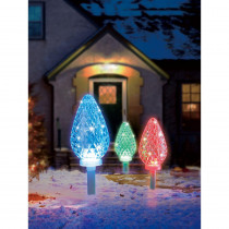 Illuminations 18.7 ft. Color Blast Remote Controlled C35 Pathway Markers RGB LED Lights (3-Pack)