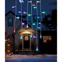 Illuminations 16 ft. Color Blast Remote Controlled 36-Light Icicle String RGB LED Lights (Dome)