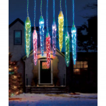 Illuminations 16.5 ft. 6-Light Color Blast Remote Controlled Large Icicle RGB LED lights