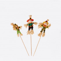 4.5 in. Scarecrow on 11 in. Stick (Set of 12)