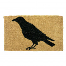 Tag Black Crow 18 in. x 30 in. Coir Mat