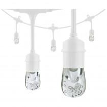 Enbrighten 6-Bulb 12 ft. Classic Integrated LED Cafe String Lights, White