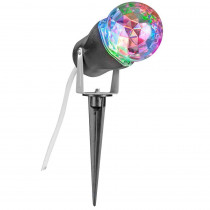 LightShow 10 in. Red Green Blue Projection Kaleidoscope Spotlight Stake