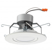 Lithonia Lighting 6 in. Matte White Recessed Gimbal LED Module (2700K)