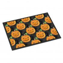 Caroline's Treasures 18 in. x 27 in. Indoor/Outdoor Watecolor Halloween Jack-O-Lantern Door Mat