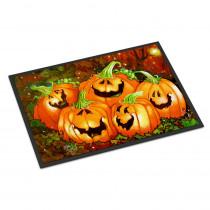 Caroline's Treasures 24 in. x 36 in. Indoor/Outdoor Such A Glowing Personality Pumpkin Halloween Door Mat