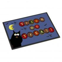 Caroline's Treasures 24 in. x 36 in. Indoor/Outdoor Trick or Treat Kitty Halloween Door Mat