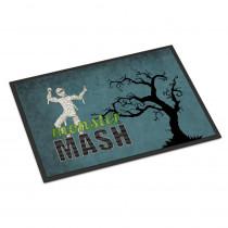 Caroline's Treasures 18 in. x 27 in. Indoor/Outdoor Monster Mash with Mummy Halloween Door Mat