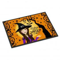 Caroline's Treasures 18 in. x 27 in. Indoor/Outdoor Halloween Wicked Witch Door Mat