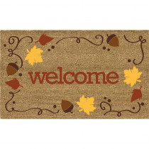 Home Accents Welcome Acorns 18 in. x 30 in. Coir Door Mat