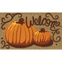 Home Accents Painted Pumpkins 18 in. x 30 in. Coir Door Mat