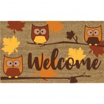 Home Accents Welcome Owls 18 in. x 30 in. Coir Door Mat