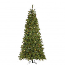 7.5 ft. Hard Mixed Needle Charleston Artificial Christmas Tree with 400 Clear Lights