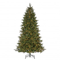 7.5 ft. Natural Cut Lakeland Fir Artificial Christmas Tree with 2000 Warm White LED Micro Lights