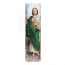 Stonebriar Collection 8 in. St. Jude LED Prayer Candle