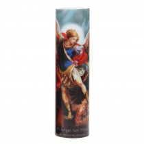 Stonebriar Collection 8 in. St. Michael LED Prayer Candle