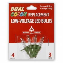 National Tree Company Replacement Dual Color LED Bulbs