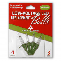 National Tree Company Replacement Soft White LED Bulbs