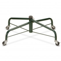 National Tree Company 32 in. Folding Tree Stand with Rolling Wheels for 9 ft. to 10 ft. Trees Fits 1.25 in. Pole