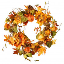 National Tree Company Harvest Accessories 25 in. Artificial Sunflower Wreath
